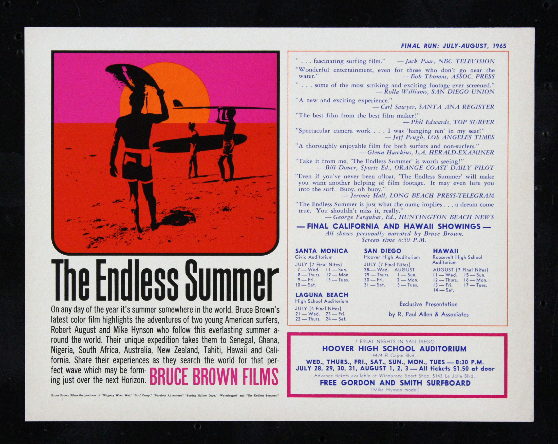 4 Results For Endless Summer Original Movie Poster